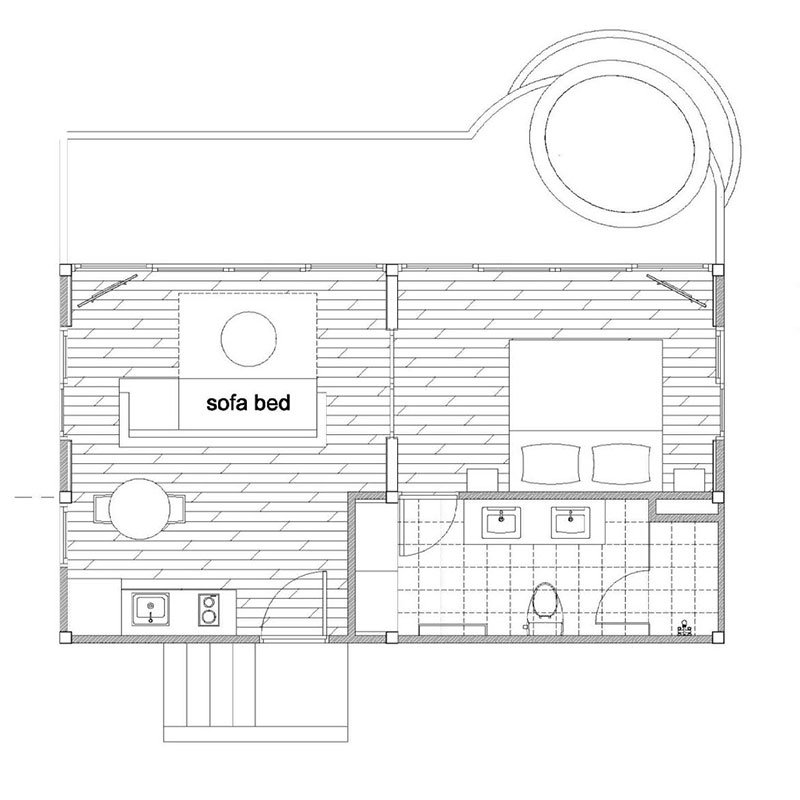 Floor Plan - 1 Bedroom