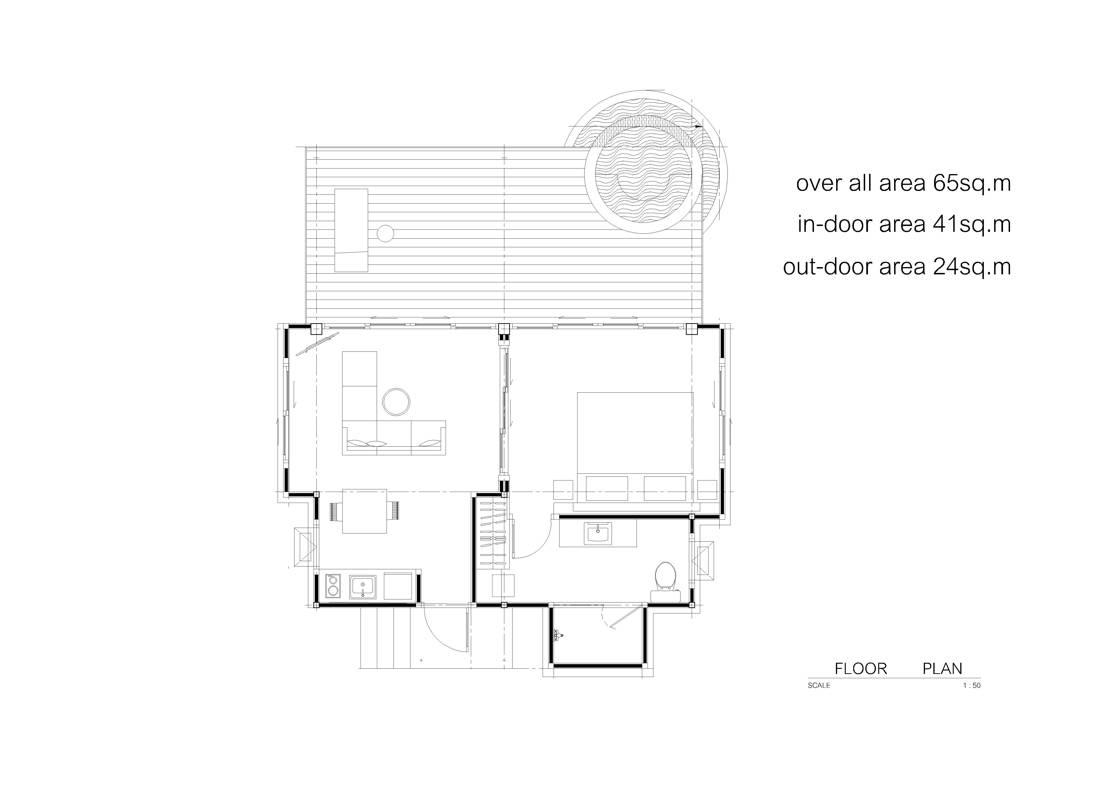 Jacuzzi Cottage Layout